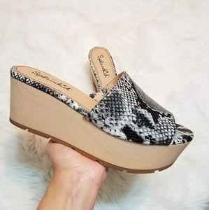Splendid Python Platform Sandals